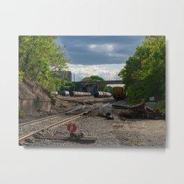 Richmond Train Yard Metal Print