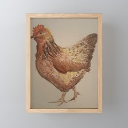 Mother Hen Framed Mini Art Print