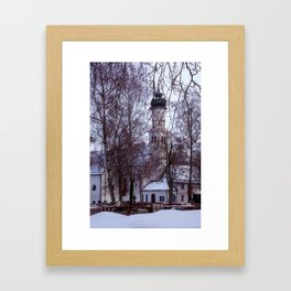Concept Baden-Wurttemberg : Chapel with Cemetery in Laupheim Framed Art Print
