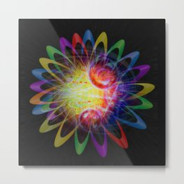 Abstract in Perfection - Magic of the rings 5 Metal Print