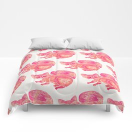 Watercolor Raccoon – Pink Palette Comforters