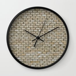 Light colored Brick Wall Wall Clock