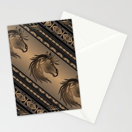 Horse Nation (Brown) Stationery Cards