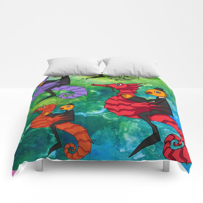 MULTICOLOUR SEAHORSES Comforters