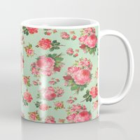 floral pattern Mugs featuring FLORAL PATTERN by Allyson Johnson