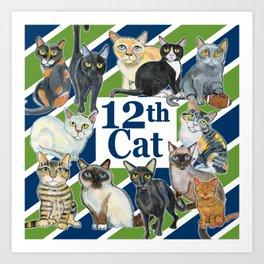 12th Cat Art Print