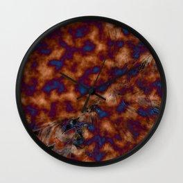 Brown vibration Wall Clock