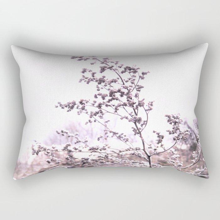 grass in winter wonderland Rectangular Pillow