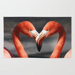 Flamingo Love Couple Rug
