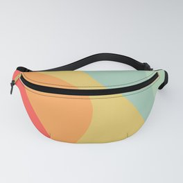 Abstract Color Waves - Bright Rainbow Fanny Pack