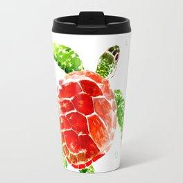 Red, Green Sea Turtle Travel Mug