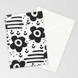 Abstract with flowers Stationery Cards