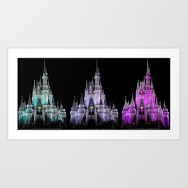 Magic Kingdom Christmas Art Print