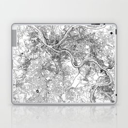 Pittsburgh White Map Laptop & iPad Skin
