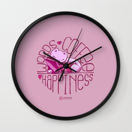 Scribbles: Words. Coffee. Happiness. Wall Clock