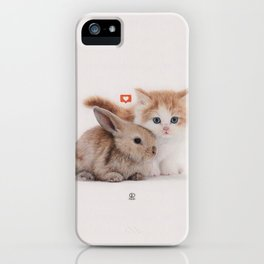 Kitten and Bunny iPhone Case