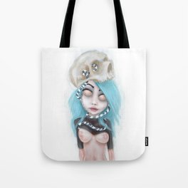 (Wearing Away) Blue Tote Bag