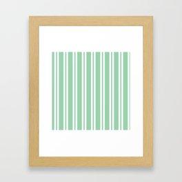 Mint Green Wide Small Wide Stripes Framed Art Print