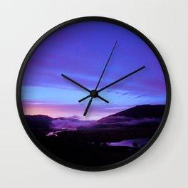 Valley Sunset Wall Clock