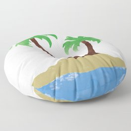 Vacation State of Mind Floor Pillow