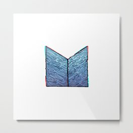 M topography in blue Metal Print