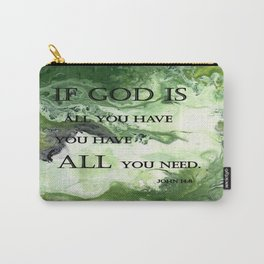 Abstract Acrylic Painting John 14:8, Blble Scripture Carry-All Pouch
