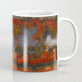 Christmas Tree Plume Agate Coffee Mug