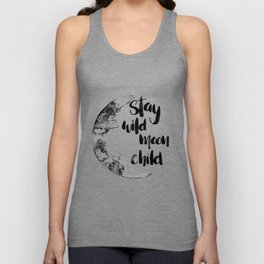 Stay Wild Moon Child Watercolor Unisex Tank Top