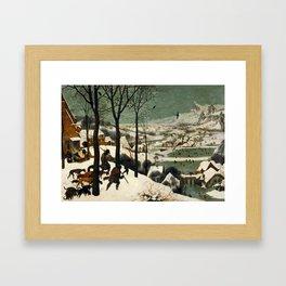 The Hunters in the Snow, Pieter Bruegel the Elder Framed Art Print