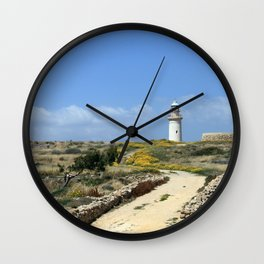 Lighthouse in Paphos Wall Clock