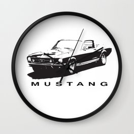 Mustang Design Wall Clock