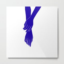 Colour block hands illustration - Effie Metal Print