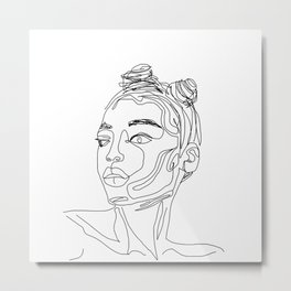 Space Buns Metal Print