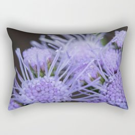 Blue mist blooms Rectangular Pillow