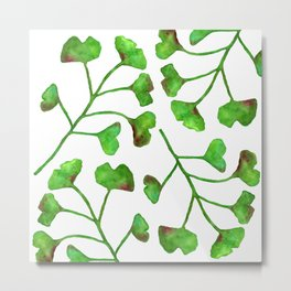 Ginkgo Leaves Watercolor Metal Print
