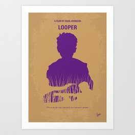 No636 My Looper minimal movie poster Art Print