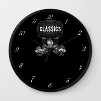 gaming Wall Clocks featuring Classic Gaming by A Strom