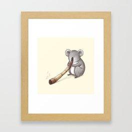 Koala Playing the Didgeridoo Framed Art Print