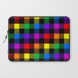 rainbow buffalo plaid Laptop Sleeve