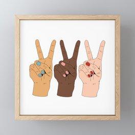 Peace Hands 3 Framed Mini Art Print