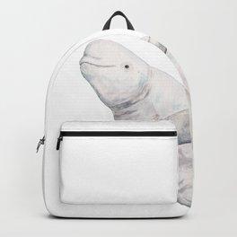 Beluga and baby beluga whale Backpack