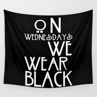 ahs Wall Tapestries featuring On Wednesdays We Wear Black by Page394