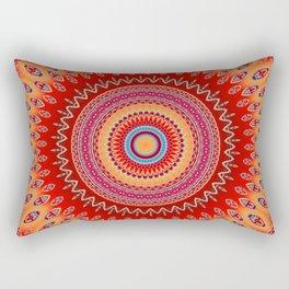 orange red mandala Rectangular Pillow