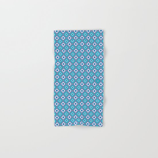 Blue Cubes - Geometric Work Hand & Bath Towel