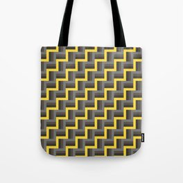 Plus Five Volts - Geometric Repeat Pattern Tote Bag