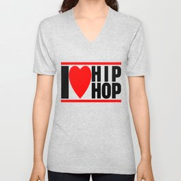 I love Hip Hop Unisex V-Neck