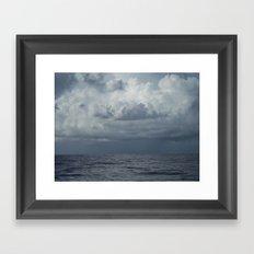 Storm over Ocean, Seascape, North Carolina Framed Art Print