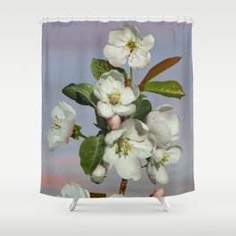 Spade's Apple Blossoms Shower Curtain