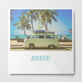 Surf Van Road Trip Beach California Metal Print