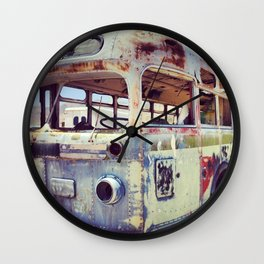 Abandoned Bus Wall Clock